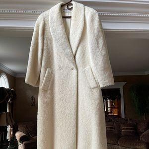 Christian Dior Vintage Alpaca Wool Cream Long Coat